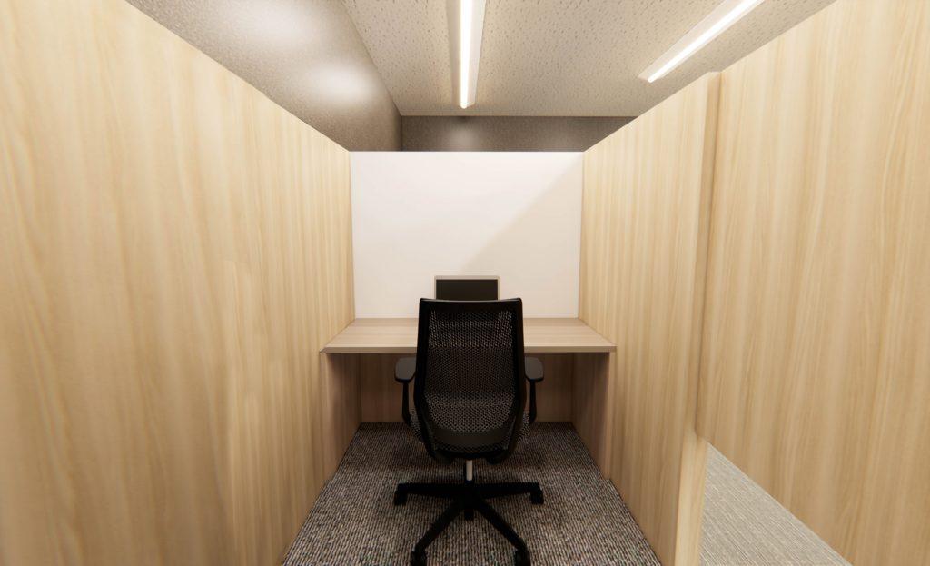 Work PLACE COCOLO TAKATSUKI 半個室ブース